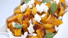 Completely addictive sweet and spicy butternut squash.