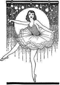 Vintage ballet dancer image