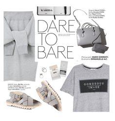 """Grayscale: dare to bare"" by punnky ❤ liked on Polyvore featuring Attilio Giusti Leombruni, Le Ciel Bleu, MANGO, Haute Hippie, Bella Freud and Iosselliani"