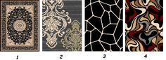 We are going to make a good offer for these four gorgeous designs very soon. Tell us which #carpetdesign you liked most?