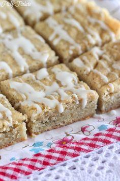 oh baby. :: Iced Lemon Poppyseed Shortbread Bars - @Jenny Flake, Picky Palate