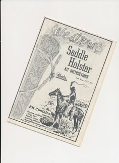 leather tooling pattern for a saddle rifle holster by mudintheUSA, $10.00