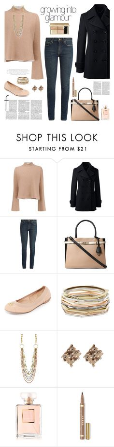"""Cute and Casual"" by stileclassico ❤ liked on Polyvore featuring Proenza Schouler, Lands' End, Yves Saint Laurent, Dorothy Perkins, Tory Burch, Kendra Scott, Lanvin, Chanel, Sweater and flats"