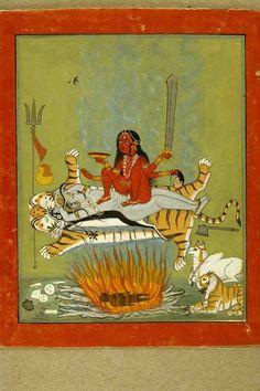 The Goddess Kali. Present Location: Varanasi (Banaras), Banaras Hindu University, Bharat Kala Bhavan. Location: Kota/Kotah, Kota District, Rajasthan, India. Date: ca 1775 CE