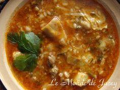 Und hier eine Rezeptidee für die tägliche Suppe im Ramadan... Zutaten: 200 g Lammfleisch 1 Dose Artischocken 1 Stange Staudensellerie 1 Bund Petersilie 1/2 Dose vorgekochte Kichererbsen 100 g Chorba oder Suppennudeln Olivenöl Tomatenmark Salz, Pfeffer...