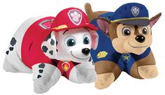 Each 18-inch Pillow Pet transforms from plush stuffed animal to super-soft pillow when the Velcro tab on its belly is released. The line includes Chase the German Shepherd and Marshall the Dalmation from Nickelodeon's Paw… read more
