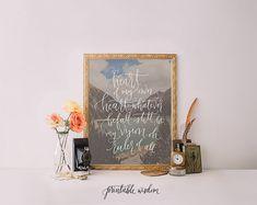 Calligraphy art print, Printable wall art, hymn printable, Be Thou My Vision, hand lettered print, photo print, wall decor, printable wisdom