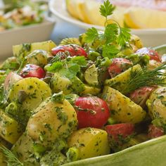 French potato with kryddgrönt Meat Recipes, Vegetarian Recipes, Healthy Recipes, Vegan Plate, Crudite, Food Inspiration, Love Food, Clean Eating, Food And Drink