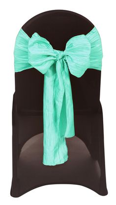 Your Chair Covers Inc. - Crinkle Taffeta Chair Sashes Tiffany, $1.19 (http://www.yourchaircovers.com/crinkle-taffeta-chair-sashes-tiffany/)