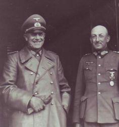 Generaloberst Karl   Adolf Hollidt with Generaloberst Hans Jürgen Freiherr von Arnim.