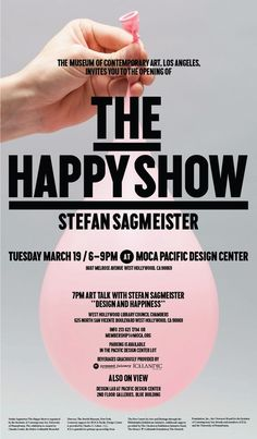 Jamie Cristal: The Happy Show | Stefan Sagmeister: The Happy Show