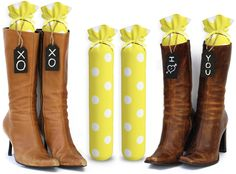 Amazon.com - My Boot Trees - Boot Shaper Stands - 100% Cotton - Hand Made - for Women & Men - Complementary Tie-On Wood Tags Included For Customization - LIFETIME GUARANTEE - Several Patterns To Choose From - One Pair (Blue & White Stripes). -