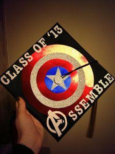 Avengers inspired graduation cap