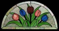 Stained Glass Arch Tulips