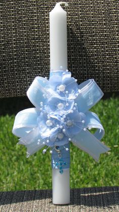 ideas baby boy baptism centerpieces ribbons for 2019 Boy Baptism Centerpieces, Baptism Party Decorations, Baptism Candle, Baby Boy Baptism, Baby Baby, Boy Decor, Handmade Candles, Baby Boy Gifts, Easter Crafts