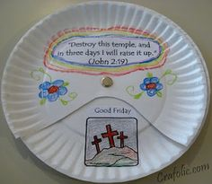 Easter Triduum Craft ~ Spinning Paper Plate | Catholic Inspired ~Catholic crafts, art projects, and other hands-on activities!