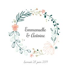 Wedding Announcement Flower Crown Customize on Wedding Logo Design, Wedding Logos, Diy Wedding, Wedding Invitations, Cake Wedding, Embroidery Flowers Pattern, Flower Patterns, Logo Fleur, Crown Illustration