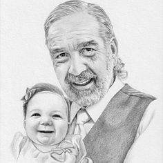 Custom portrait, baby girl or family pencil portrait drawing from a photo. - Custom portrait baby girl or family pencil portrait drawing Post Office, Baby Girl Portraits, Pencil Portrait Drawing, Custom Pencils, Niece And Nephew, High Resolution Photos, How To Draw Hands, Fine Art, Etsy