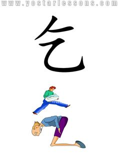 乞 = beg. Imagine a old man begging food from the others. Detailed Chinese Lessons @ www.yostarlessons.com