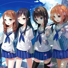 anime group of friends girls google search best