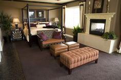 Here's a second example of the combination living room and sleeping space.