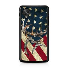 Camo Deer US Flag Nexus 5 Case