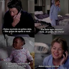 "Kkkkkkkkkkk ""o sorriso"" -Derek, Zola, Meredith Greys Anatomy Zola, Grays Anatomy Tv, Greys Anatomy Memes, Meredith And Derek, Grey's Anatomy Tv Show, Medicine Student, D Gray, Live Laugh Love, Best Tv Shows"