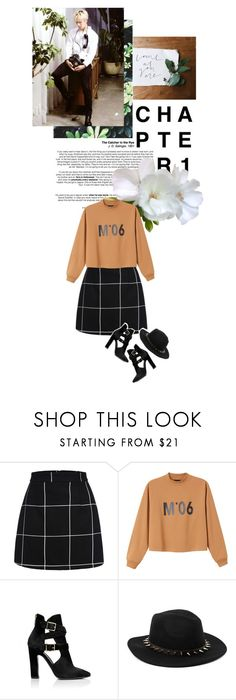"""Waiting for the new chapter"" by djdanny ❤ liked on Polyvore featuring Monki, Tamara Mellon, women's clothing, women's fashion, women, female, woman, misses and juniors"