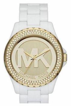 Michael Kors Madison Crystal Bezel Logo Ladies Watch MK5817