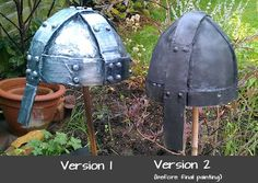 Best tutorial for paper mache helmet. Try using thinner cardboard (cereal box?) for less obvious lines. Knights Helmet, Viking Helmet, Paper Mache Projects, Art Projects, Vikings Game, Vikings Ks2, Knight Costume, Viking Costume, Medieval Banquet