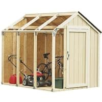 Build a storage unit right in your backyard with this Shed Kit with Peak Roof. Perfect for storing your lawn equipment, sports gear and patio furniture. Build A Shed Kit, Build Your Own Shed, Diy Shed, Building A Shed, Building Plans, Building Design, Storage Shed Kits, Shed Organization, Roof Storage