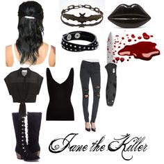 """Jane the Killer outfit"" by motherlee on Polyvore"
