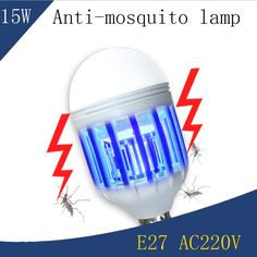 15W E27 Led Bulb  Electric Shock Anti-mosquito Led Lamp, No Radiation Static Lighting + Anti-mosquito Two Models Led Lamp AC220V #Affiliate