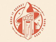 Keep it secret. Keep it safe. wizard line art logo seal monoline illustration badge Wizards Logo, Secret Safe, Apple Wallpaper, Visual Communication, Art Logo, Graphic Design Inspiration, Logo Branding, Line Art, Illustration