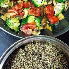 Canihua y Quinoa con verduras (con un toque picante), una receta perfecta para la comida de feculentos del sábado en la nueva #EscaleraDukan
