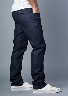 {Vantage Point} Driven Slim-Straight Jeans in Delta Blue | TWENTY Jeans.