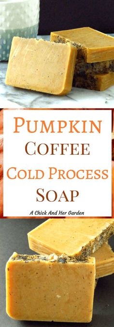 Pumpkin coffee soap has two of my favorite things! Pumpkin and coffee! While it&… Pumpkin coffee soap has two of my favorite things! Pumpkin and coffee! Although this soap is a great scent for the fall, it offers many benefits for year-round use! Coffee Soap, Coffee Scrub, Coffee Coffee, Diy Beauté, Savon Soap, Homemade Soap Recipes, Homemade Paint, Homemade Candles, Goat Milk Soap
