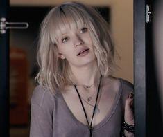 emily browning in plush- silver blonde hair