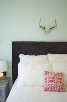 After perusing the Internet for the perfect upholstered headboard, we came to the realization that most of them were pretty