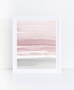 Blush Pink and Grey Abstract Art Watercolor Printable Art