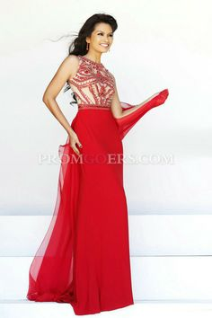 Sheath/Column Scoop  Sleeveless  Floor Length  Chiffon  Beading  Zipper Up