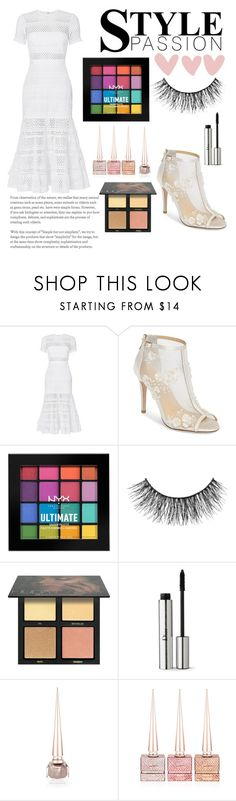 """""""Untitled #348"""" by evelina103 ❤ liked on Polyvore featuring self-portrait, Bella Belle, NYX, Miss Selfridge, Huda Beauty, Christian Dior and Christian Louboutin"""