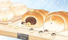 Cute Food Drawings, Cute Kawaii Drawings, Cute Animal Drawings, Kawaii Chibi, Cute Chibi, Kawaii Art, Chibi Food, Food Cartoon, Cute Doodles