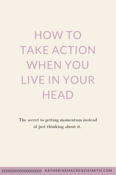The secret to getting momentum instead of just thinking about it Sensitive People, Highly Sensitive, Self Development, Personal Development, How To Become, How To Get, Business Tips, Online Business, Infj Personality