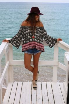 I may not be a fan of the shoes, but boy that Elephant print boho smock is gorgeous! Via Allegra Fanjul.