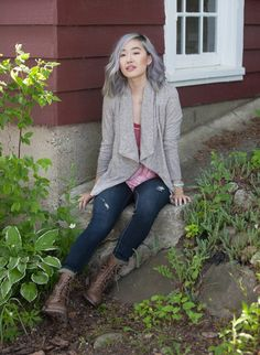 I have the cardigan from ModCloth (in a darker grey) and love looking for other ways to style it. I need a cute blouse to put under it.