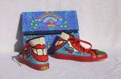 1960's Peter Max art  Sneakers