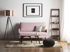 Kupari lattiavalaisin STILETTO_673305 Boho Furniture, Decor, Sofa Accessories, Sofa Bed, Furniture, Pink Bedding, Fabric Sofa, Beige Bed, Fabric Sofa Bed