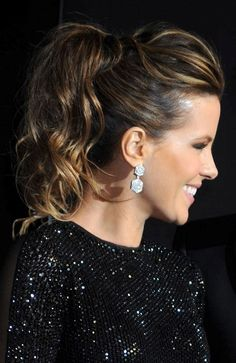 Kate Beckinsale rocks a ponytail hairstyle