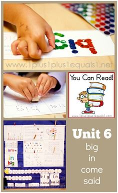 You Can Read Sight Words Unit 6 ~ Homeschool Kindergarten from @1plus1plus1